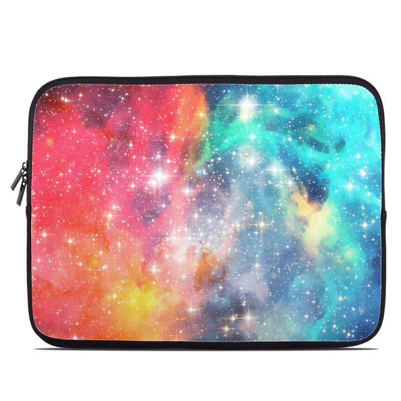 Laptop Sleeve design of Nebula, Sky, Astronomical object, Outer space, Atmosphere, Universe, Space, Galaxy, Celestial event, Star with white, black, red, orange, yellow, blue colors