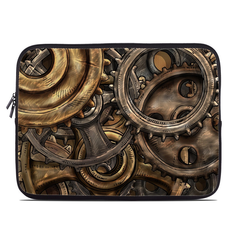 Laptop Sleeve design of Metal, Auto part, Bronze, Brass, Copper with black, red, green, gray colors