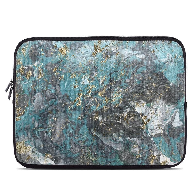 Gilded Glacier Marble Laptop Sleeve