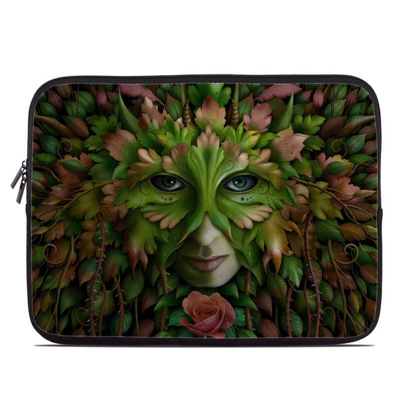 Green Woman Laptop Sleeve
