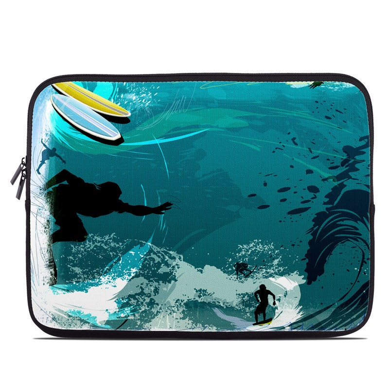 Laptop Sleeve design of Water, Illustration, Extreme sport, Recreation, Graphic design, Surfing, Leisure, Ocean, Surface water sports, Wind wave with blue, black, gray, purple, white colors