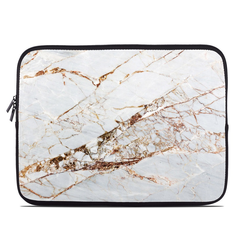 Laptop Sleeve design of White, Branch, Twig, Beige, Marble, Plant, Tile with white, gray, yellow colors