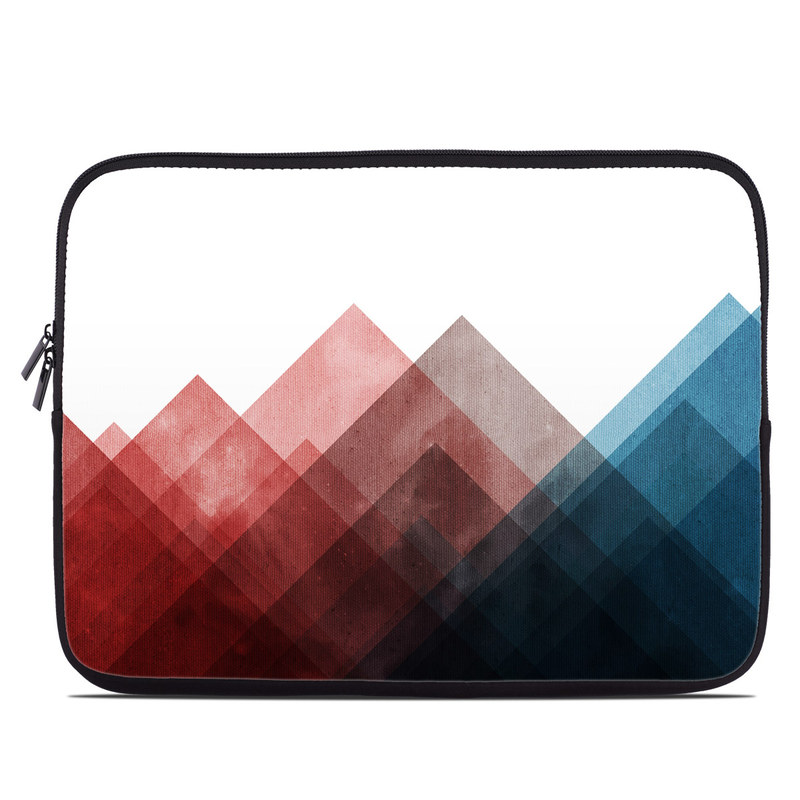 Laptop Sleeve design of Blue, Red, Sky, Pink, Line, Architecture, Font, Graphic design, Colorfulness, Illustration with red, pink, blue colors