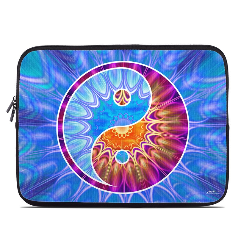 Laptop Sleeve design of Blue, Fractal art, Psychedelic art, Water, Circle, Electric blue, Neon, Art, Pattern, Graphics with blue, purple, red, gray colors
