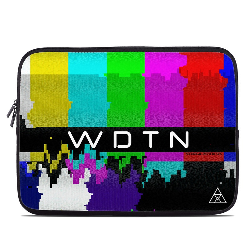 Laptop Sleeve design of Graphic design, Colorfulness, Line, Design, Pattern, Font, Graphics, Illustration, Symmetry, Art with white, black, yellow, blue, green, pinkmred, purple colors