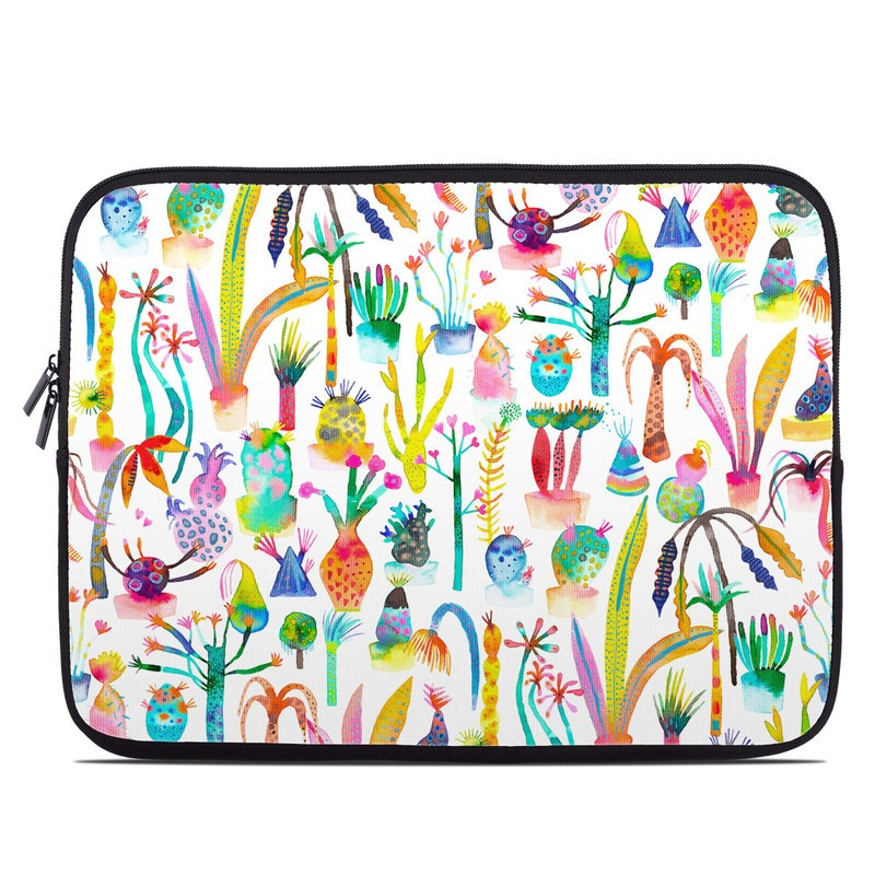 Laptop Sleeve design of Pattern with white, yellow, green, blue, orange, pink, purple, brown, black colors