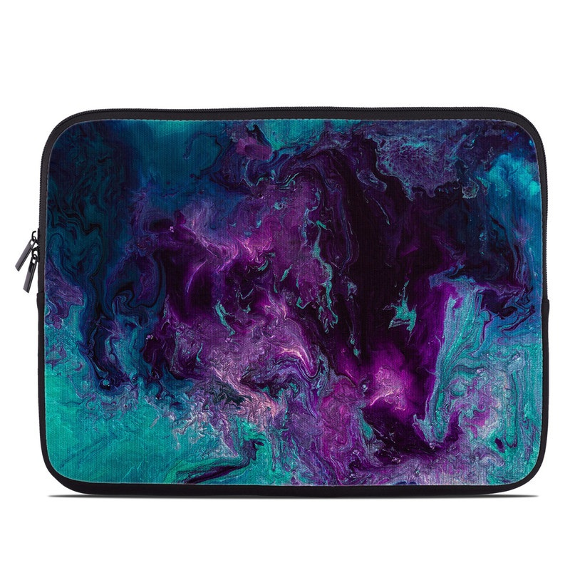 Laptop Sleeve design of Blue, Purple, Violet, Water, Turquoise, Aqua, Pink, Magenta, Teal, Electric blue with blue, purple, black colors