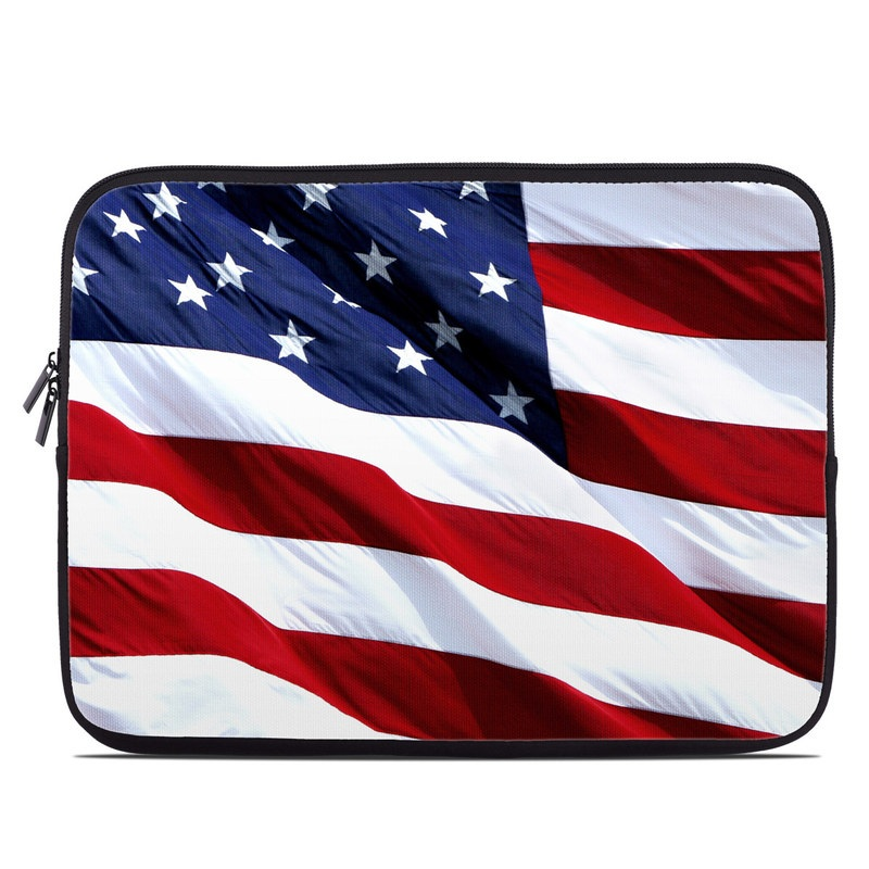 Laptop Sleeve design of Flag, Flag of the united states, Flag Day (USA), Veterans day, Memorial day, Holiday, Independence day, Event with red, blue, white colors