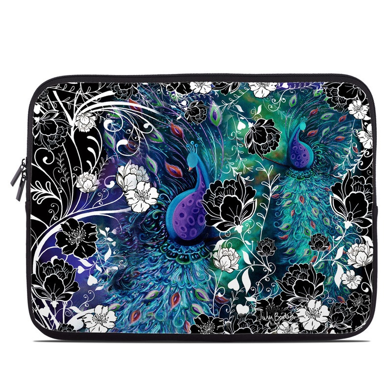 Laptop Sleeve design of Pattern, Psychedelic art, Organism, Turquoise, Purple, Graphic design, Art, Design, Illustration, Fractal art with black, blue, gray, green, white colors
