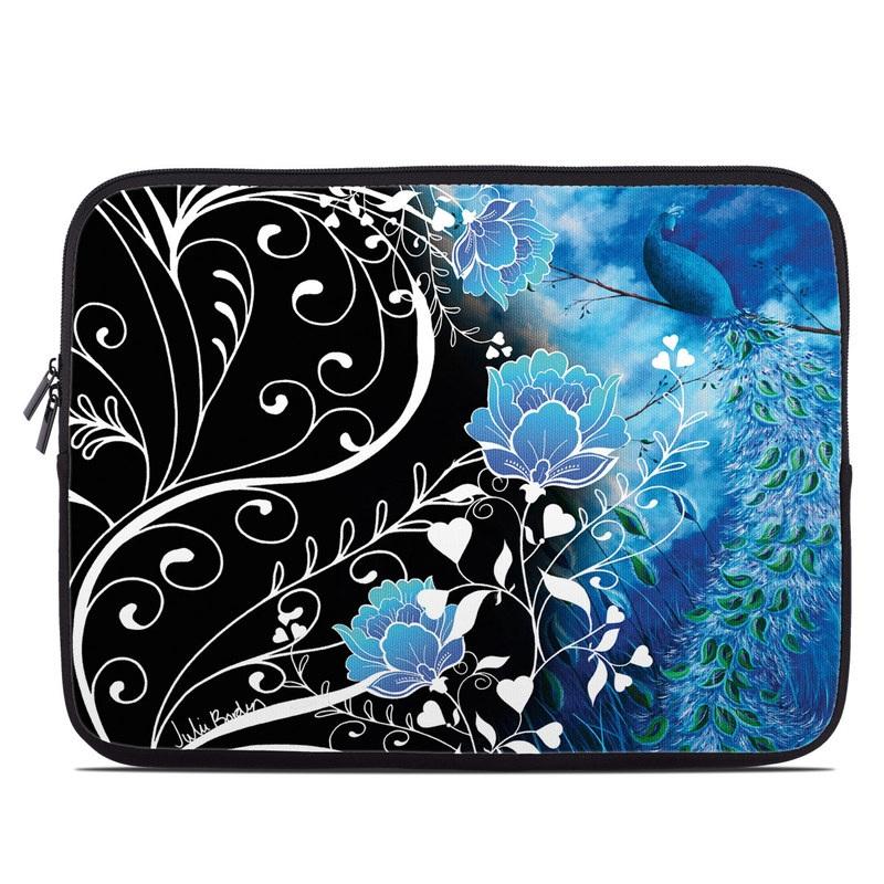 Laptop Sleeve design of Blue, Pattern, Graphic design, Design, Illustration, Organism, Visual arts, Graphics, Plant, Art with black, blue, gray, white colors