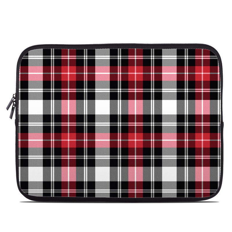 Laptop Sleeve design of Plaid, Tartan, Pattern, Red, Textile, Design, Line, Pink, Magenta, Square with black, gray, pink, red, white colors