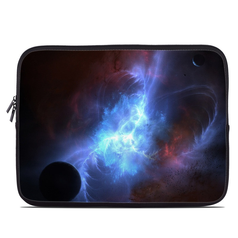 Laptop Sleeve design of Sky, Atmosphere, Outer space, Space, Astronomical object, Fractal art, Universe, Electric blue, Art, Organism with black, blue, purple colors