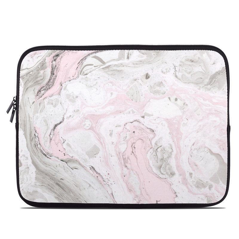 Laptop Sleeve design of White, Pink, Pattern, Illustration with pink, gray, white colors
