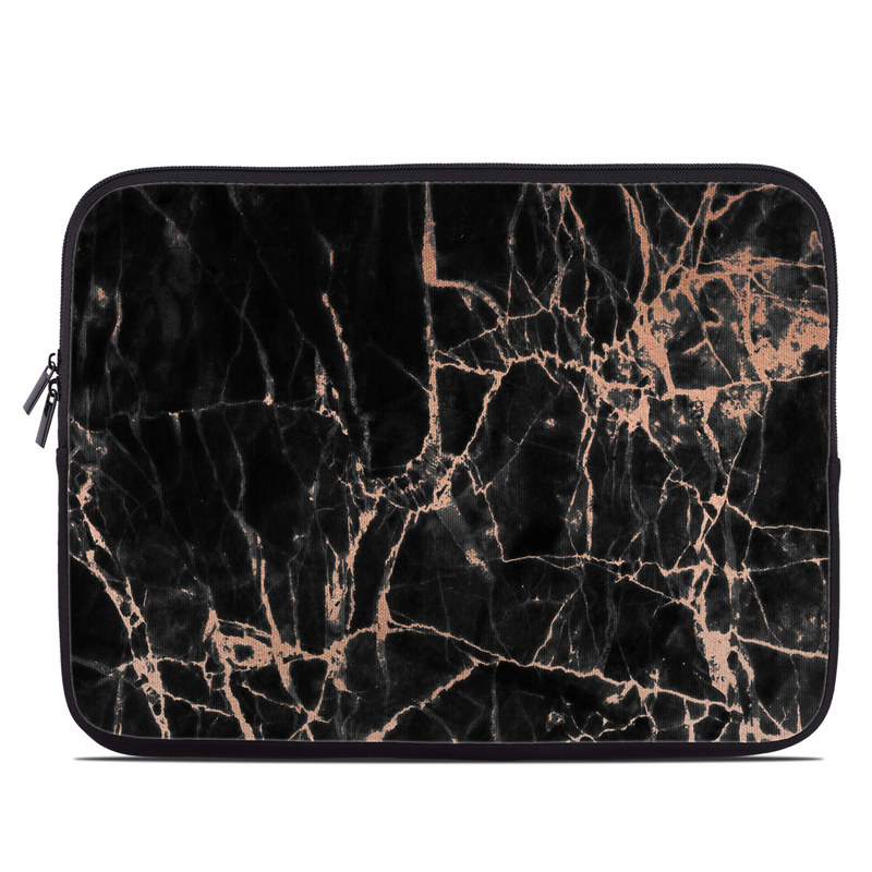Laptop Sleeve design of Branch, Black, Twig, Tree, Brown, Sky, Atmosphere, Plant, Winter, Night with black, pink colors