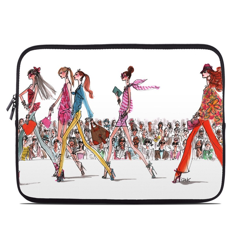 Laptop Sleeve design of Costume design, Illustration, Fashion design, Fashion illustration, Art, Style with white, gray, red, black, green, pink colors
