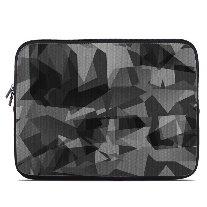 Laptop Sleeve design of Black, Pattern, Triangle, Black-and-white, Monochrome, Grey, Design, Line, Architecture, Monochrome photography with black, gray colors