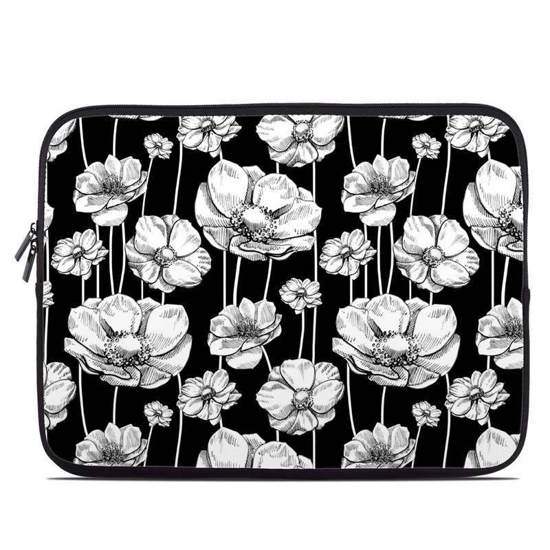 Striped Blooms Laptop Sleeve