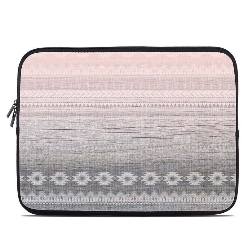 Laptop Sleeve design of White, Beige, Textile, Pattern, Lace, Tablecloth, Linen, Linens with pink, white, gray colors