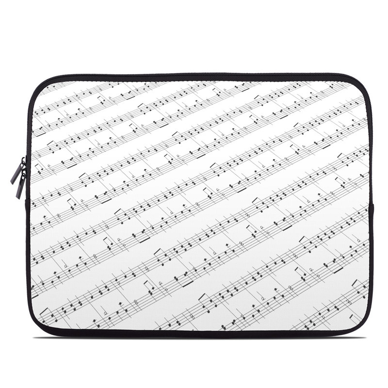 Laptop Sleeve design of Sheet music, Music, Text, Monochrome, Line, Font, Parallel, Classical music with white, gray colors