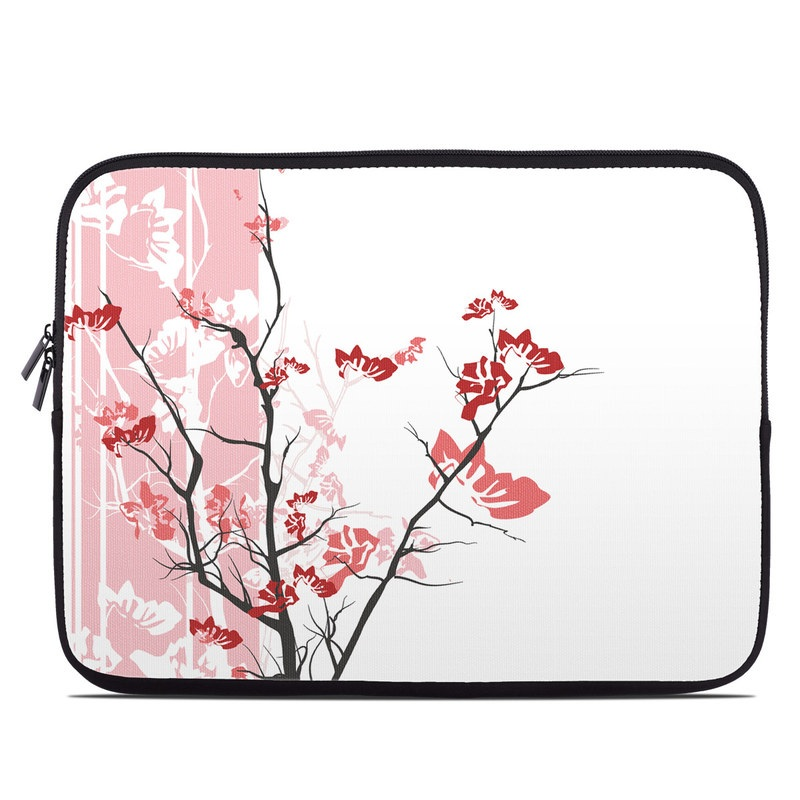 Laptop Sleeve design of Branch, Red, Flower, Plant, Tree, Twig, Blossom, Botany, Pink, Spring with white, pink, gray, red, black colors