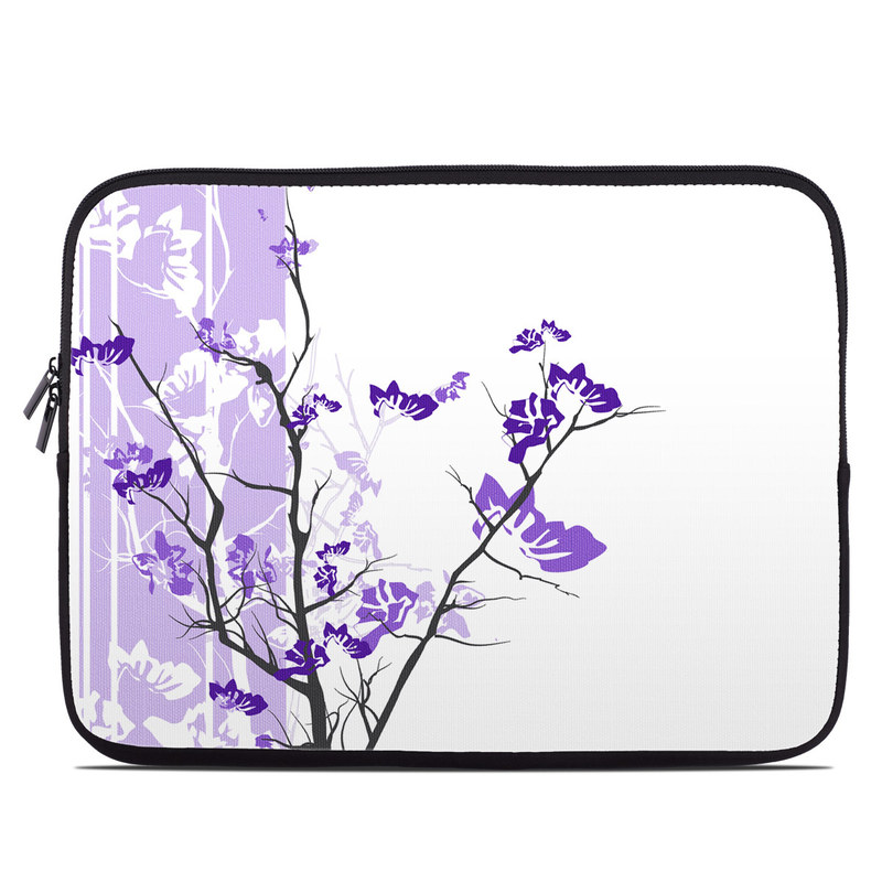 Laptop Sleeve design of Branch, Purple, Violet, Lilac, Lavender, Plant, Twig, Flower, Tree, Wildflower with white, purple, gray, pink, black colors