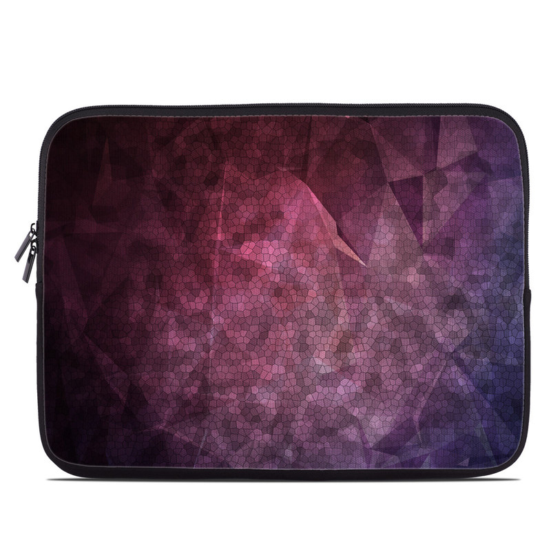 Laptop Sleeve design of Purple, Sky, Red, Violet, Pink, Pattern, Design, Triangle, Line, Magenta with black, red, purple, pink, white colors