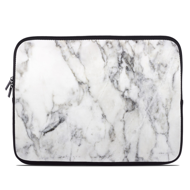 Laptop Sleeve design of White, Geological phenomenon, Marble, Black-and-white, Freezing with white, black, gray colors