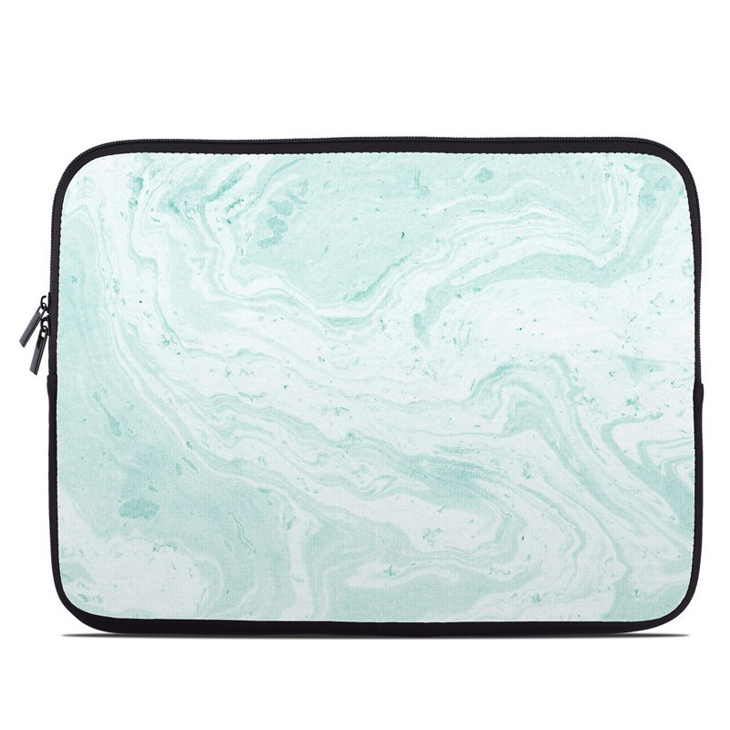 Laptop Sleeve design of White, Aqua, Pattern with green, blue colors