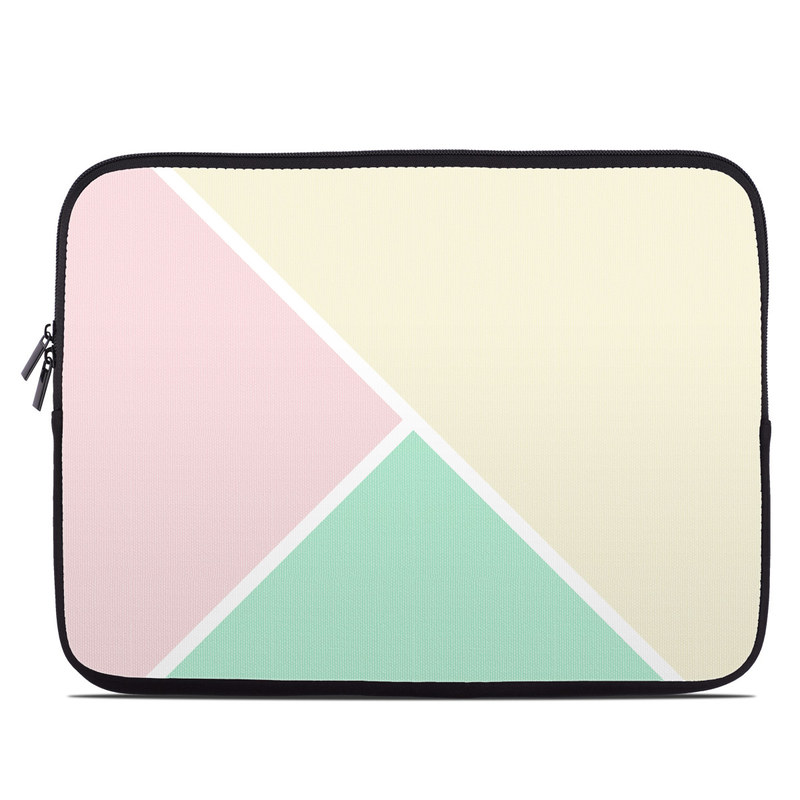 Laptop Sleeve design of Green, Aqua, Turquoise, Blue, Pink, Yellow, Line, Teal, Pattern, Design with yellow, pink, green colors