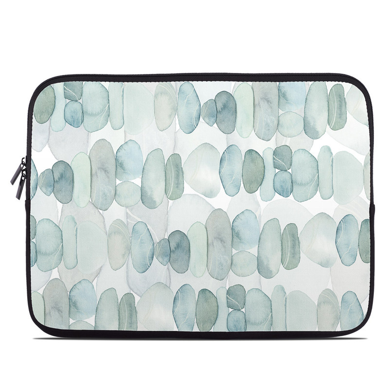 Laptop Sleeve design of Aqua, Turquoise, Circle, Pattern, Transparent material, Glass with white, blue colors