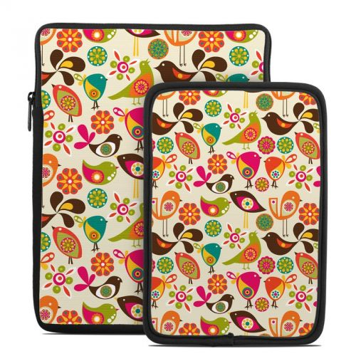 Bird Flowers Tablet Sleeve