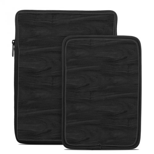 Black Woodgrain Tablet Sleeve