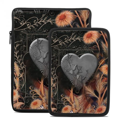 Black Lace Flower Tablet Sleeve
