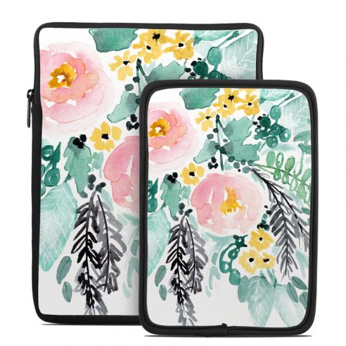 Blushed Flowers Tablet Sleeve