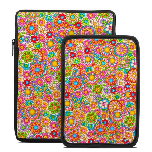Bright Flowers Tablet Sleeve