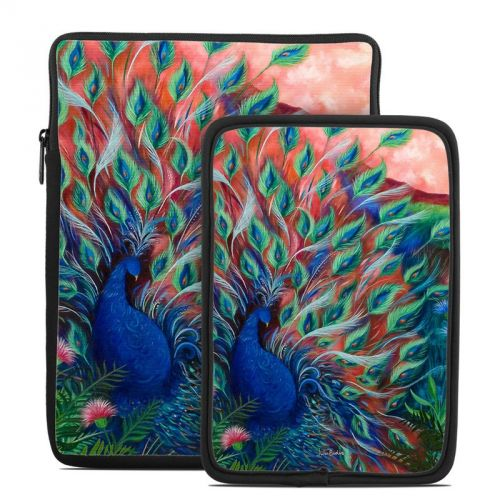 Coral Peacock Tablet Sleeve