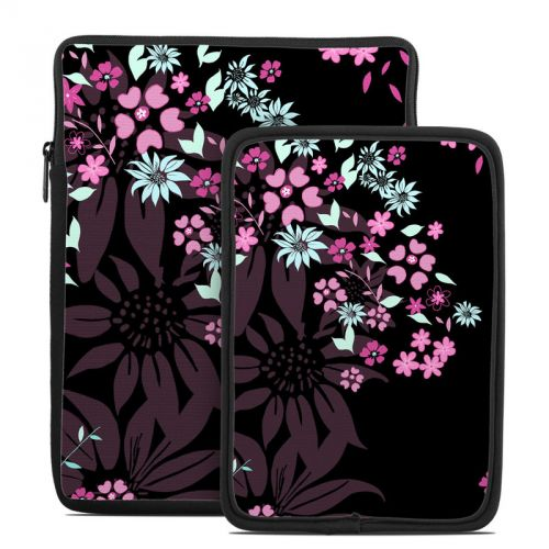 Dark Flowers Tablet Sleeve