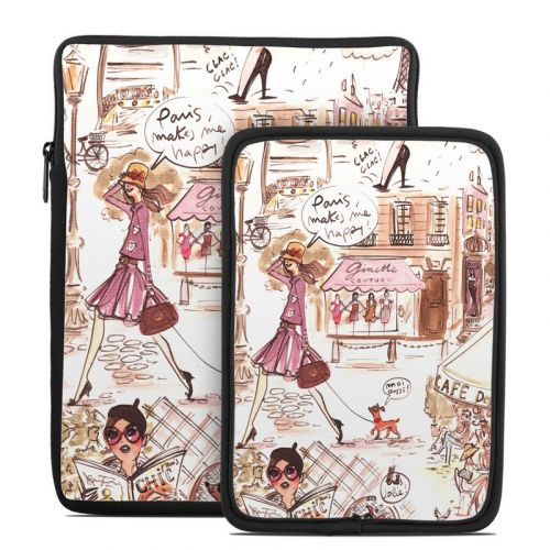 Paris Makes Me Happy Tablet Sleeve