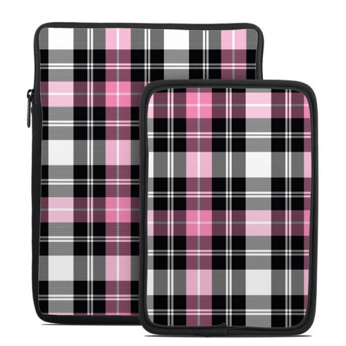 Pink Plaid Tablet Sleeve