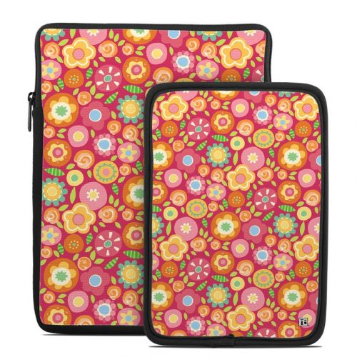 Flowers Squished Tablet Sleeve