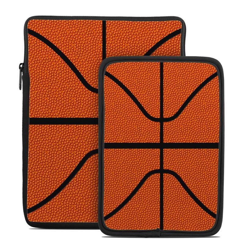 Tablet Sleeve design of Orange, Basketball, Line, Pattern, Sport venue, Brown, Yellow, Design, Net, Team sport with orange, black colors