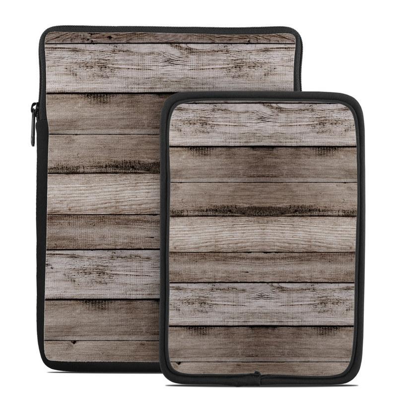 Tablet Sleeve design of Wood, Plank, Wood stain, Hardwood, Line, Pattern, Floor, Lumber, Wood flooring, Plywood with brown, black colors
