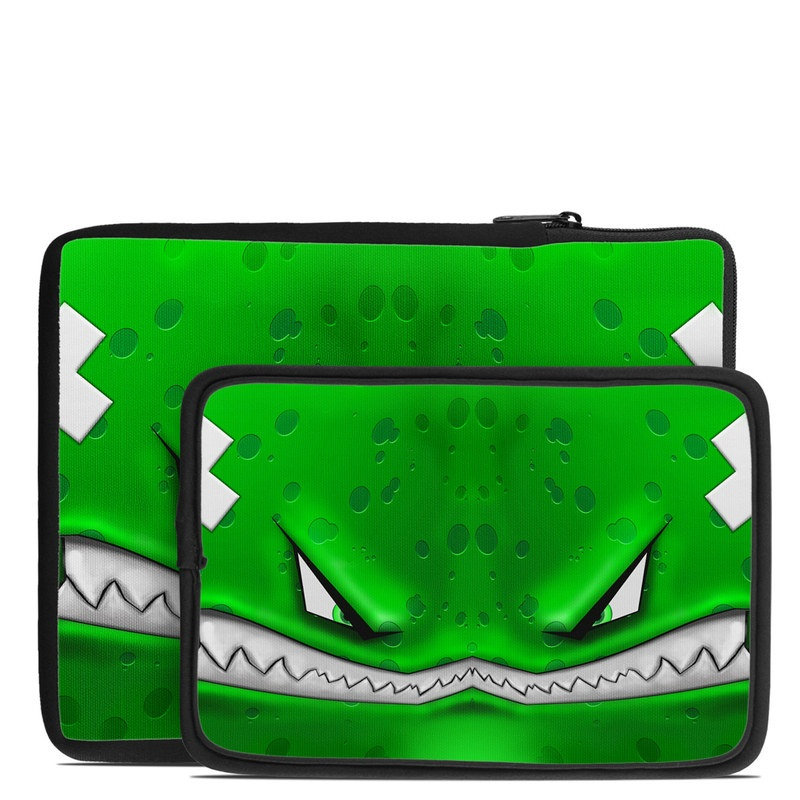 Tablet Sleeve design of Green, Font, Animation, Logo, Graphics, Games with green, white colors