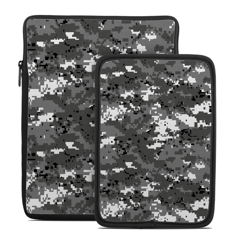 Tablet Sleeve design of Military camouflage, Pattern, Camouflage, Design, Uniform, Metal, Black-and-white with black, gray colors
