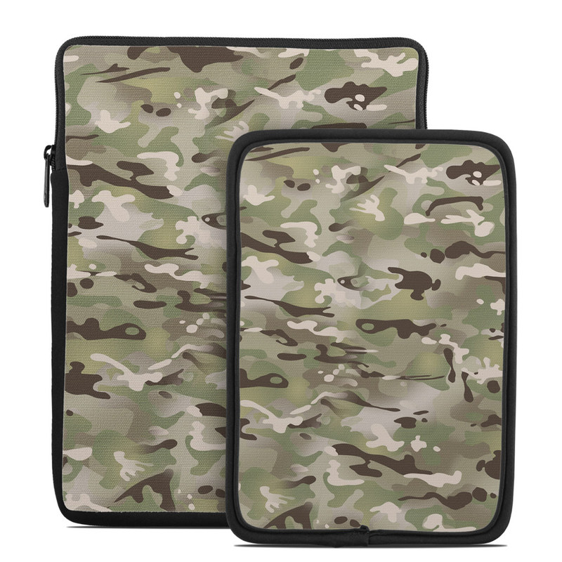 Tablet Sleeve design of Military camouflage, Camouflage, Pattern, Clothing, Uniform, Design, Military uniform, Bed sheet with gray, green, black, red colors