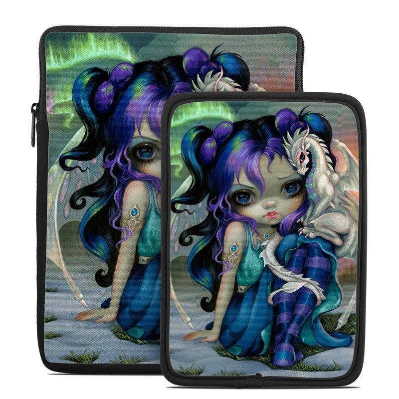 Tablet Sleeve design of Illustration, Fictional character, Cg artwork, Art, Mythology, Anime, Mythical creature with green, blue, purple, yellow, red, white colors