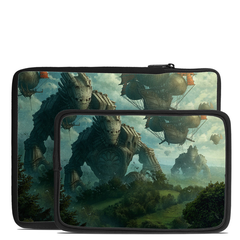 Tablet Sleeve design of Action-adventure game, Cg artwork, Pc game, Strategy video game, Games, Adventure game, Screenshot, Illustration, Fictional character, Landscape with black, gray, blue, green colors