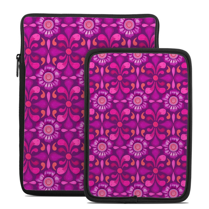 Tablet Sleeve design of Pattern, Pink, Magenta, Purple, Violet, Design, Textile, Wrapping paper, Visual arts with purple, red, blue, pink, black, gray colors