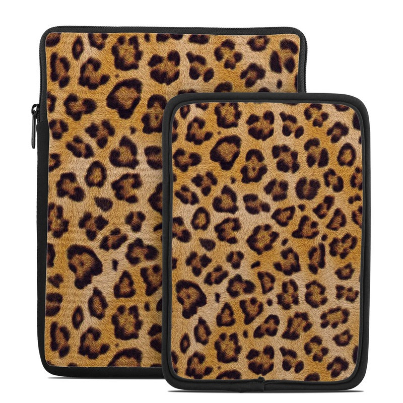 Tablet Sleeve design of Pattern, Felidae, Fur, Brown, Design, Terrestrial animal, Close-up, Big cats, African leopard, Organism with orange, black colors