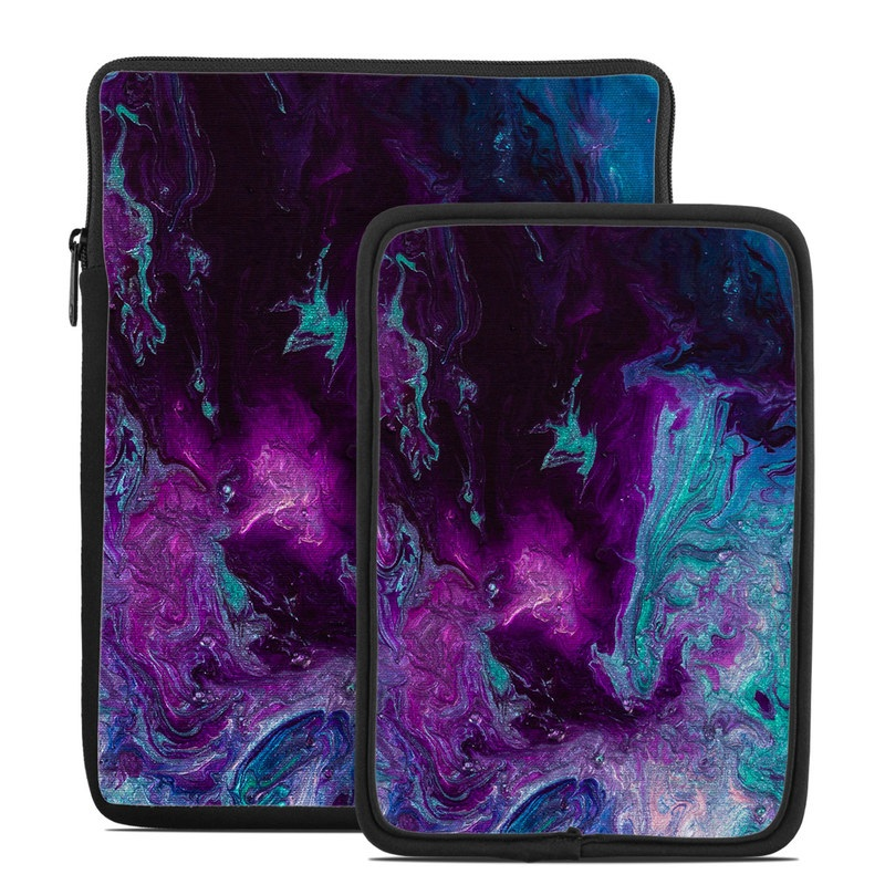 Tablet Sleeve design of Blue, Purple, Violet, Water, Turquoise, Aqua, Pink, Magenta, Teal, Electric blue with blue, purple, black colors